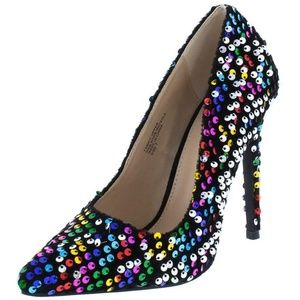 NEW Sequined Pointed Toe Pumps